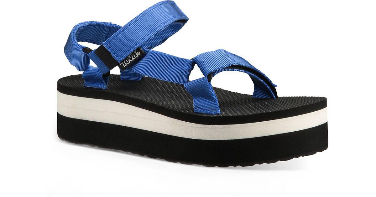 Teva Universal Flatform Open Toe Sandals In Blue Lyst