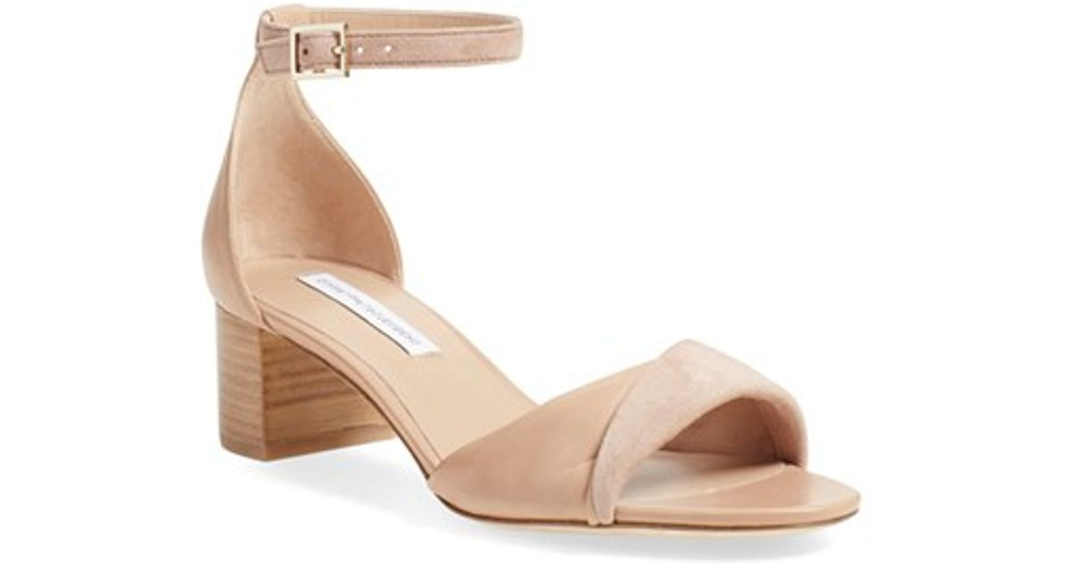 discount shop for free shipping countdown package Diane von Furstenberg Leather Ankle Strap Sandals QIzXH