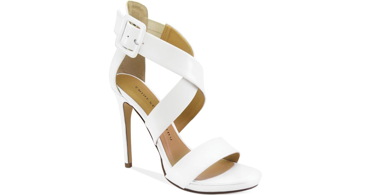 3a67675aec02 Lyst - Chinese Laundry Black Jack Criss Cross Sandals in White