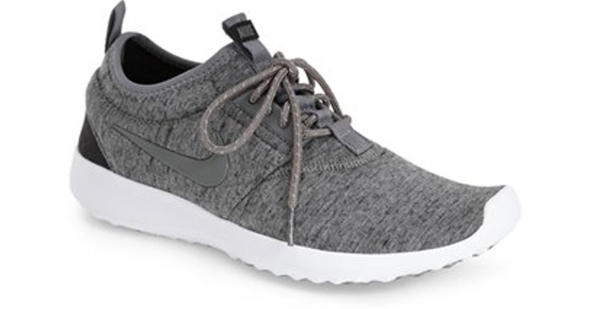 nike 39 juvenate fleece 39 sneaker in gray lyst. Black Bedroom Furniture Sets. Home Design Ideas