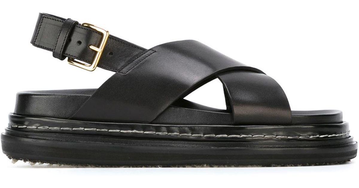 crossover Fussbett sandals - Black Marni 10M35Odg8