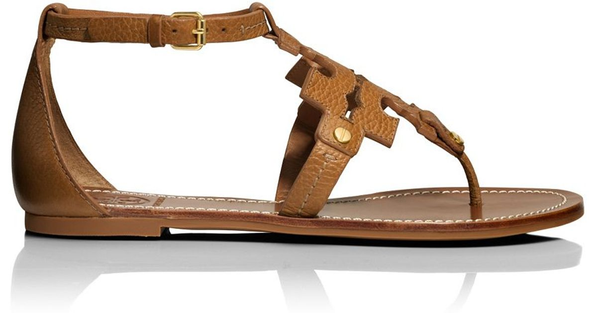 3762b706f803 Tory Burch Phoebe Flat Thong Sandal in Brown - Lyst