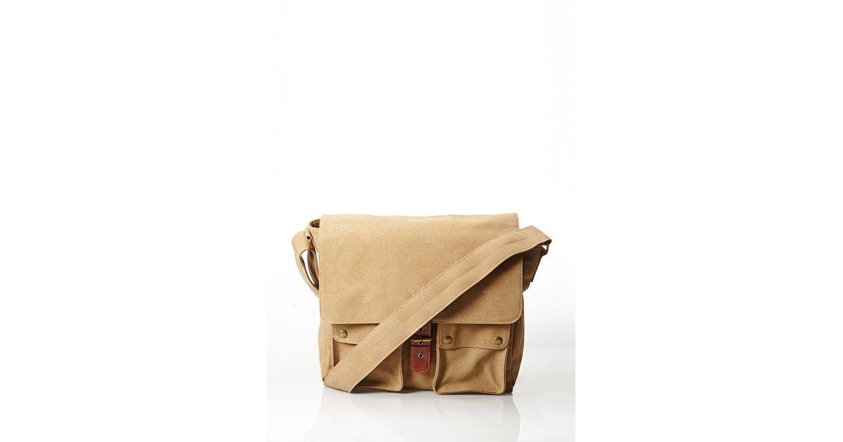 7626f5d63e53 Lyst - Forever 21 Canvas Messenger Bag in Natural for Men