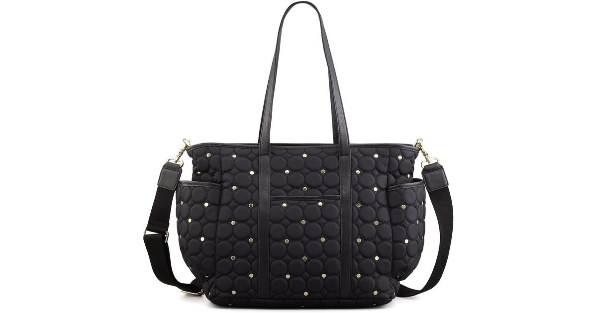 rebecca minkoff marissa quilted diaper bag in black lyst. Black Bedroom Furniture Sets. Home Design Ideas