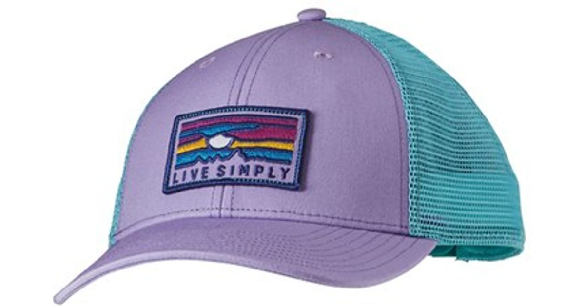 0f4300cc Patagonia 'live Simply' Sunset Pattern Trucker Hat - Purple in Purple - Lyst