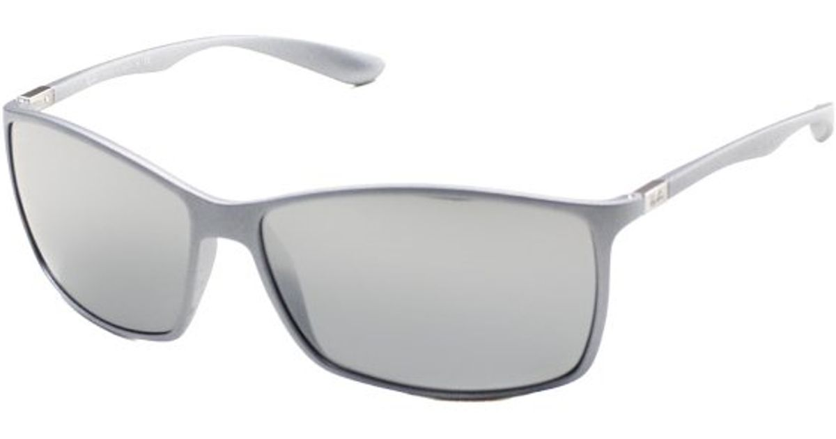 699fe9b87d ... clearance lyst ray ban ray ban tech rb4179 liteforce 601788 silver  sunglasses grey mirror silver lens