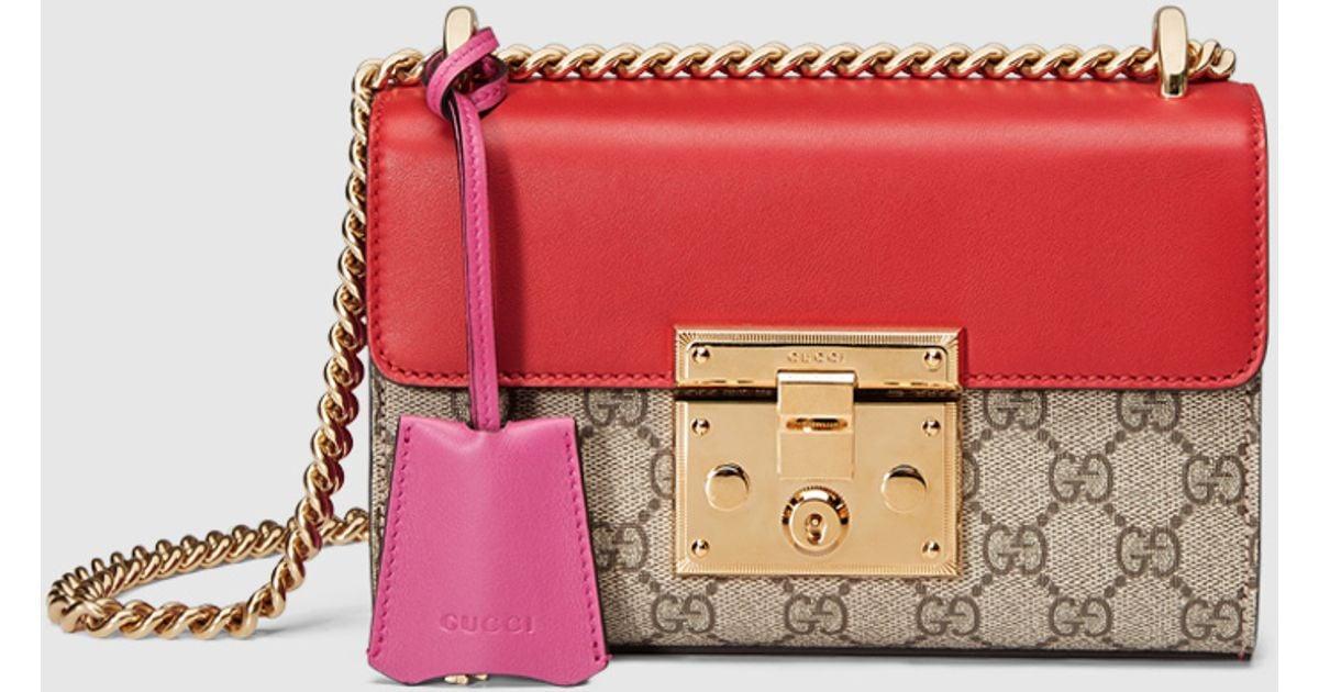 788076be05e2 Gucci Padlock Gg Supreme Shoulder Bag - Lyst