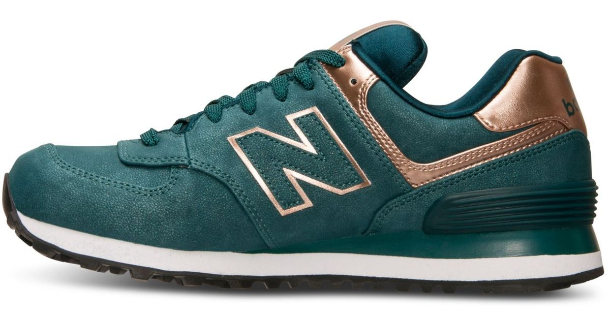 New Balance Green Women's 574 Precious Metals Casual Sneakers From Finish Line