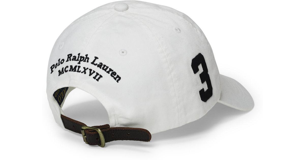 b0b5bb00c Polo Ralph Lauren Chino Baseball Cap in White for Men - Lyst
