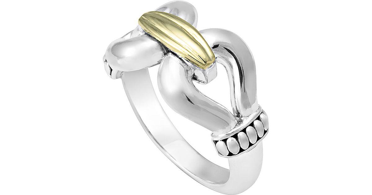 Lagos Diamond Derby Ring, Silver