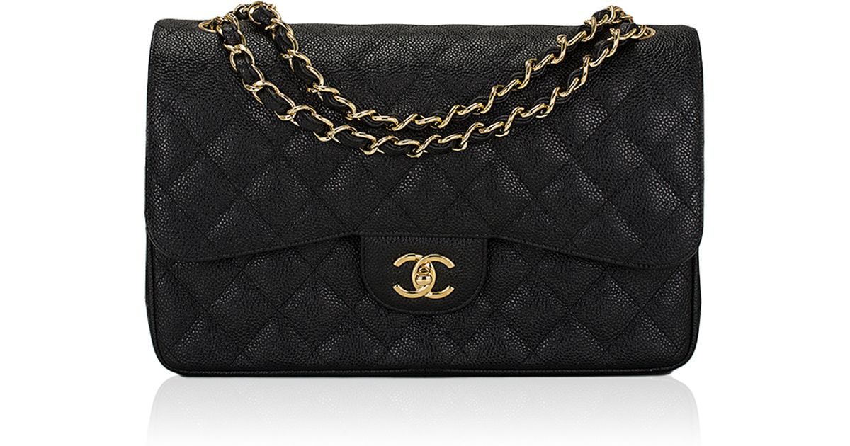 348d4330199f1 Lyst Madison Avenue Couture Chanel Black Quilted Caviar Jumbo