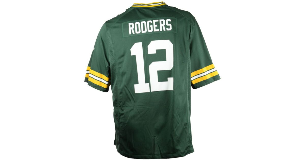 2aa9762df Lyst - Nike Big And Tall Aaron Rodgers Green Bay Packers Game Jersey in  Green for Men