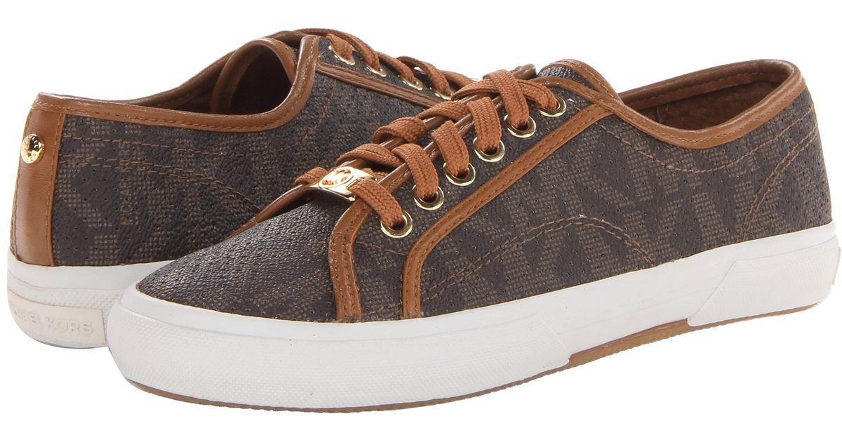 b3e5642dff1a1 Lyst - MICHAEL Michael Kors Boerum Sneaker in Brown