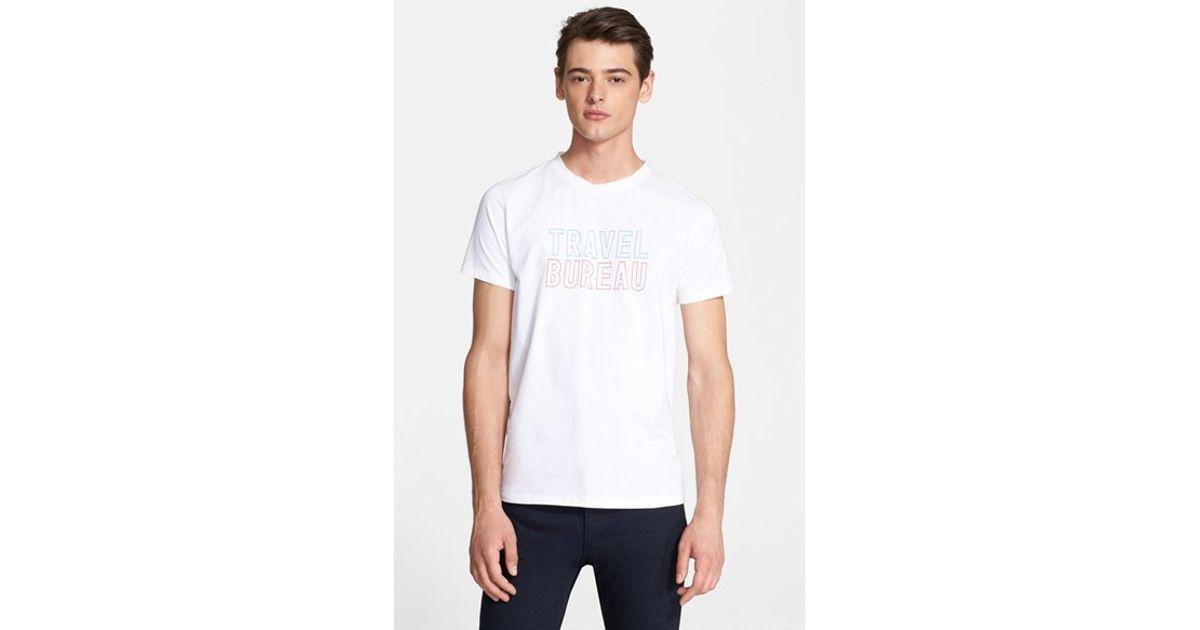 Lyst a p c travel bureau graphic t shirt in white for men