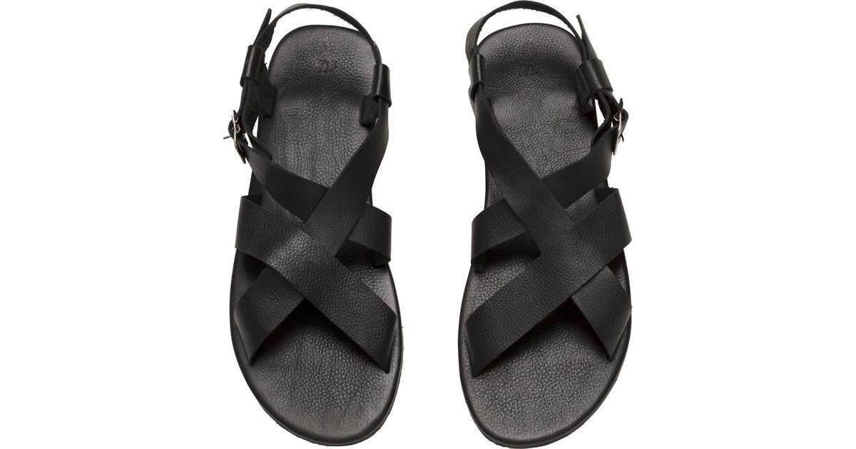 Sandales En Cuir Noir 6uQYtlay