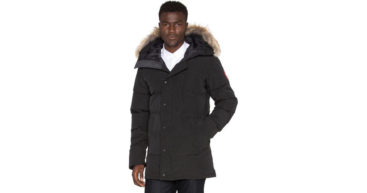Canada Goose' Carson parka coat, Men's, Size Medium, Grey, Cotton