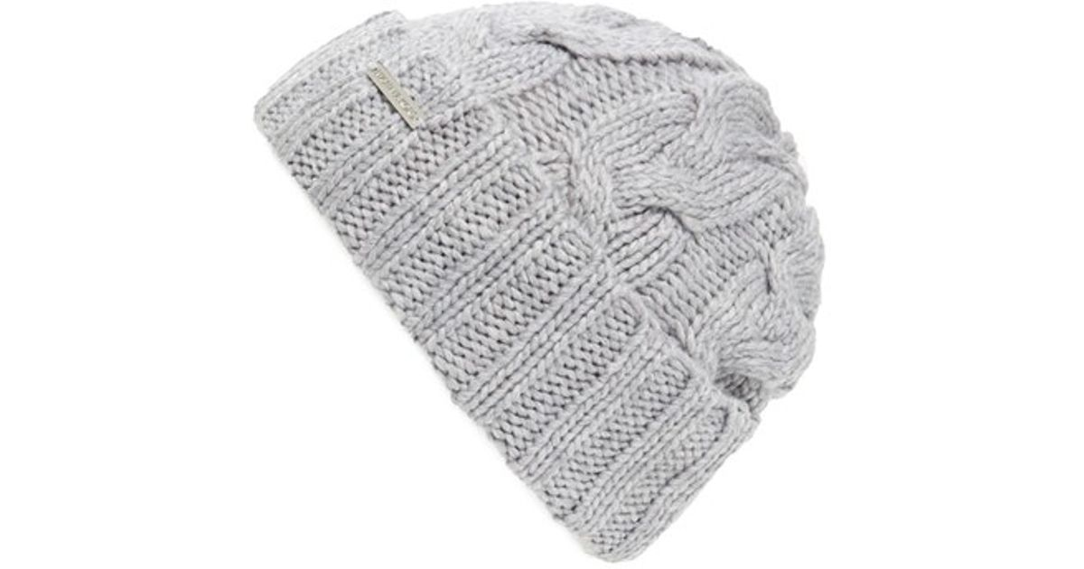 b9e4f3d1f MICHAEL Michael Kors - Gray Cable Knit Cuff Beanie - Lyst