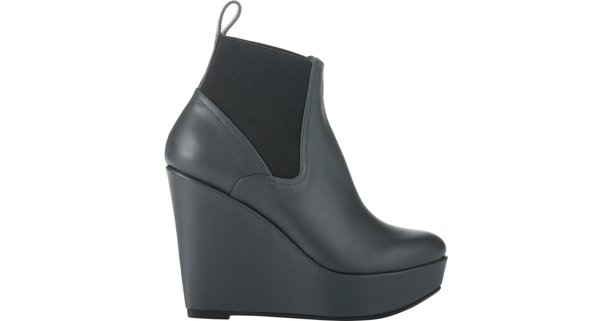 0a557ad2b9a8 Robert Clergerie Fille Wedge Boots in Gray - Lyst