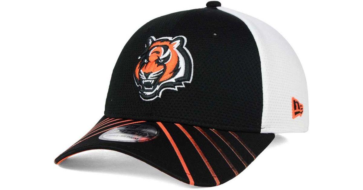 new style a9e12 956bf Lyst - KTZ Cincinnati Bengals Fade Back Mesh 39thirty Cap in Black for Men