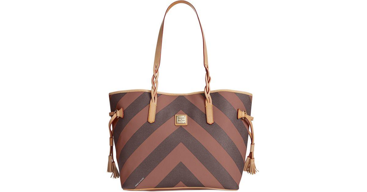 Lyst - Dooney   Bourke Chevron Bailey Bag in Brown d61765a5cf1fe