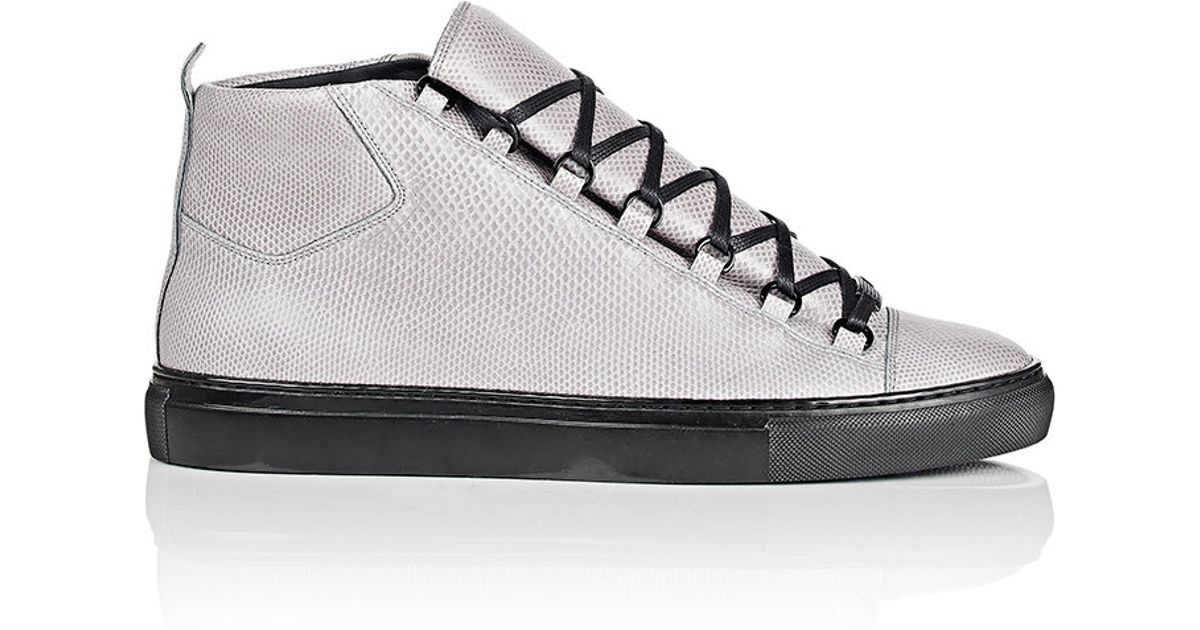 Men In High Sneakers Gray For Snakeskin Top Lyst Arena Balenciaga m0ON8wvn