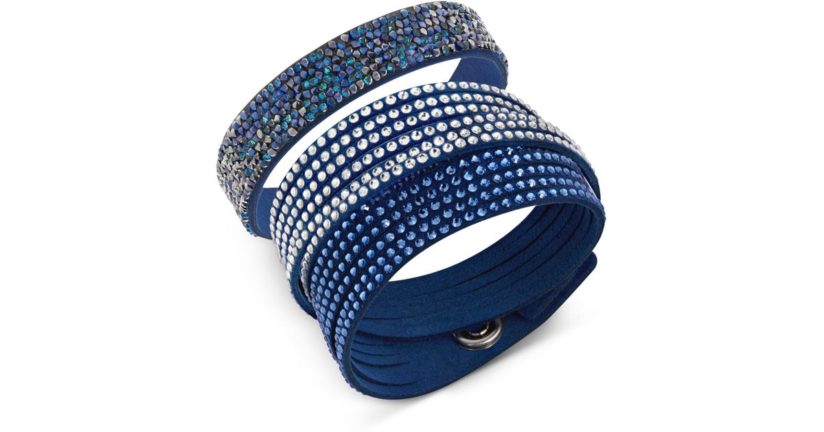 cc904a8bb Swarovski Slake & Crystal Rock Bracelet Set in Blue - Lyst