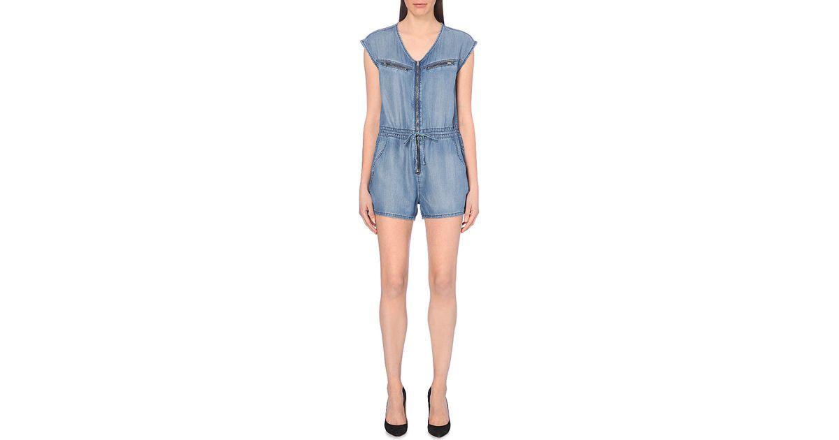 0477d8c4b3fa Diesel De-Venia Denim Jumpsuit - For Women in Blue - Lyst