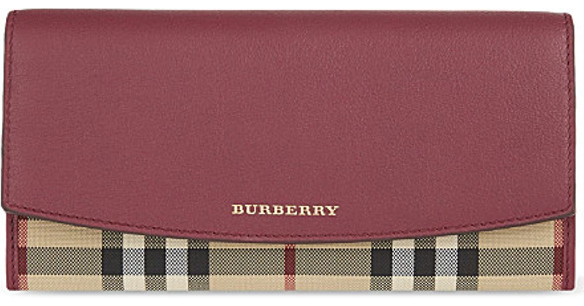 Burberry Bag Porter Flap Leather Wallet, Women s, Mahroon in Purple - Lyst 9a7010567e