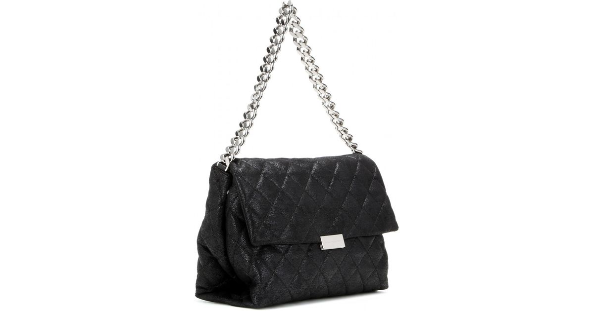 e45cbc648e30 Lyst - Stella McCartney Soft Beckett Small Quilted Shoulder Bag in Black