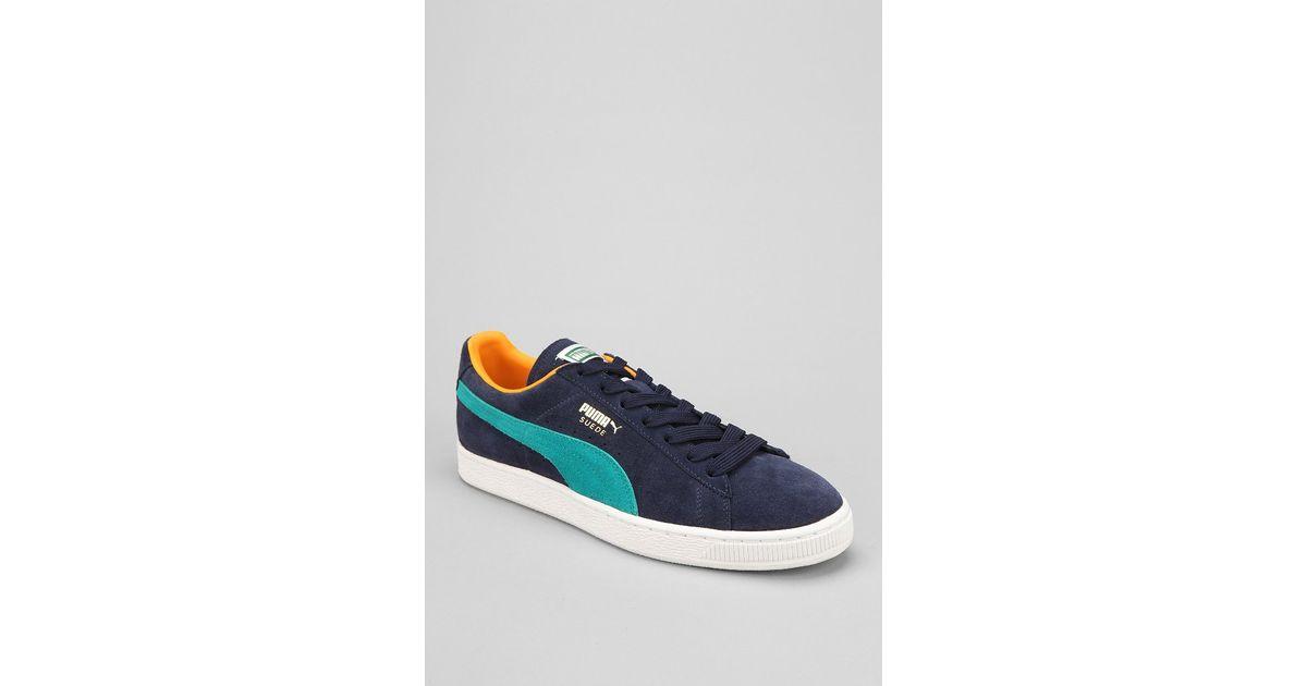 19e119df92fa Lyst - Puma Super Classic Suede Sneaker in Blue for Men