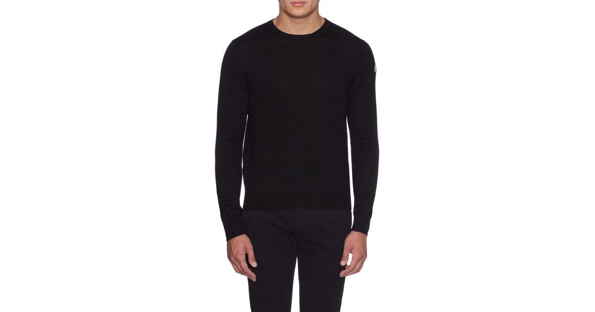 moncler black sweater