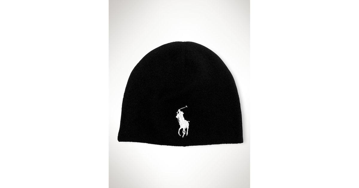 c755204ed43 Lyst - Polo Ralph Lauren Big Pony Merino Watch Cap in Black for Men