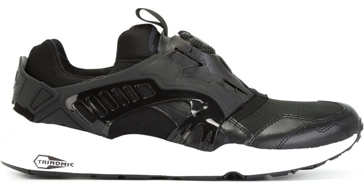 317acd2f649e ... discount code for lyst puma modern trinomic disc blaze sneakers in black  for men 45eff 0caf6