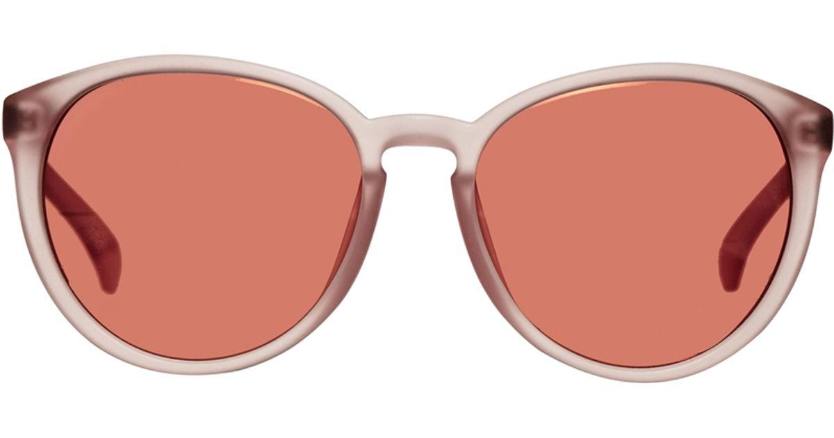 ff6c875b3 Calvin Klein Round Sunglasses in Pink - Lyst