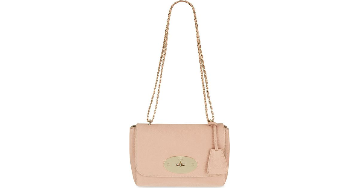 8f7d8f064985 Mulberry Lily Grained Leather Shoulder Bag