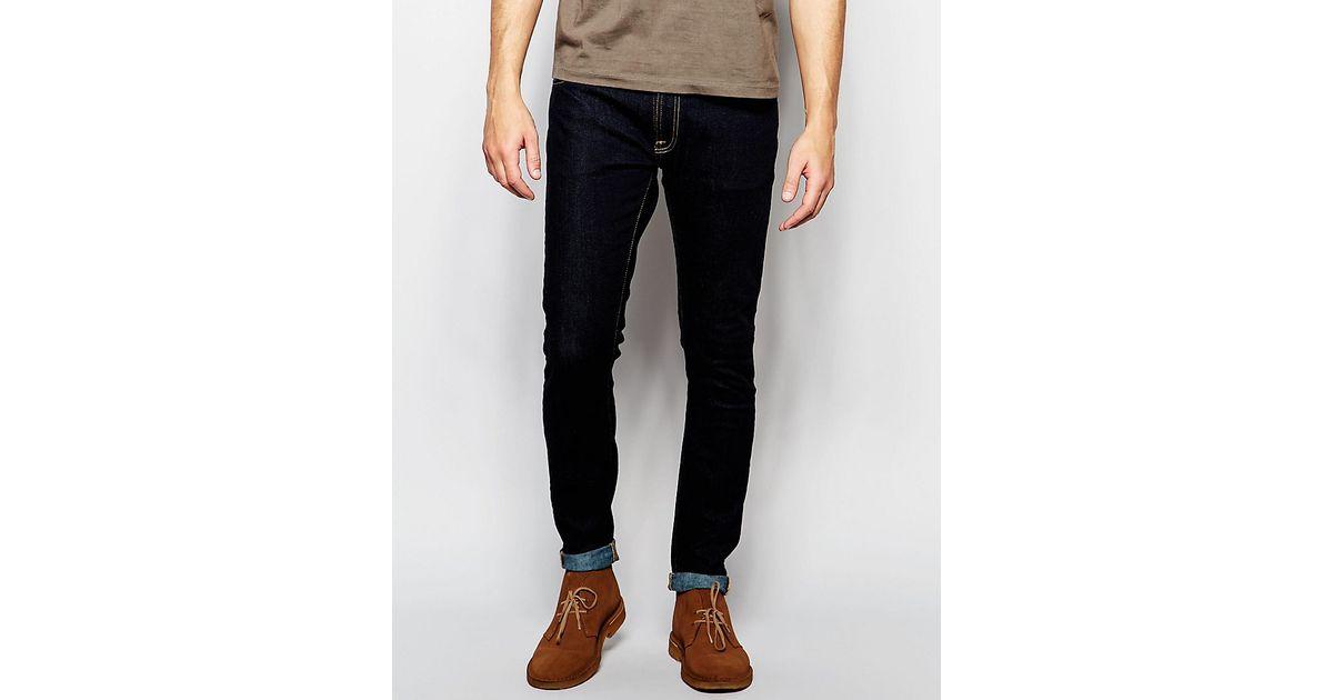 c196a18a Nudie Jeans Skinny Lin Super Skinny Fit Dry Deep Orange Dark Wash for Men -  Lyst