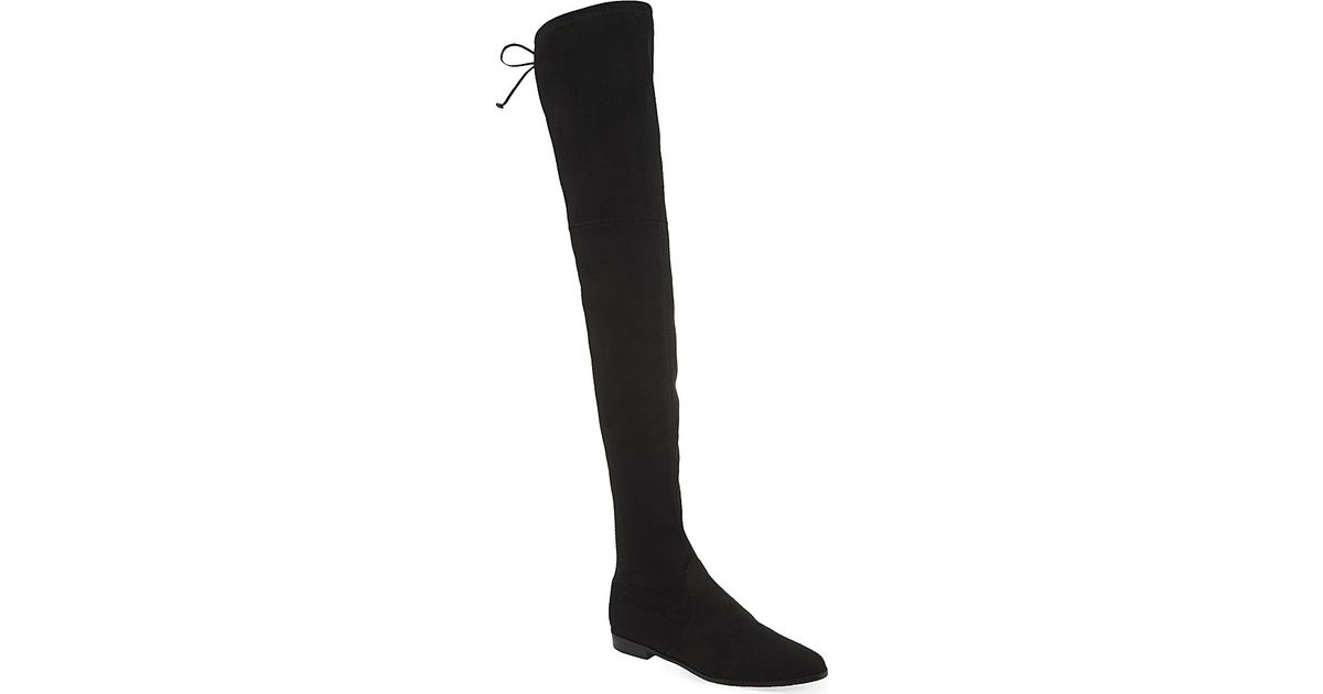 d811f880430 Lyst - Stuart Weitzman Leggylady Velvet Over-The-Knee Boots in Black