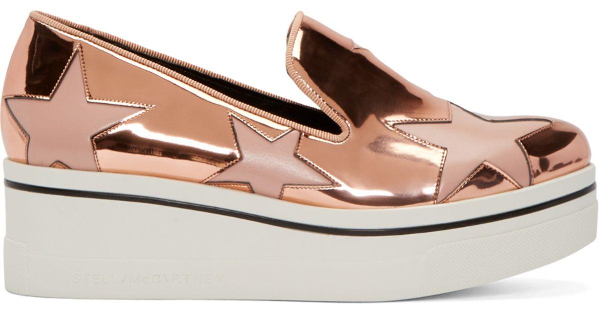 f56ca09682c1 Lyst - Stella McCartney Copper Star Platform Binx Sneakers in Metallic