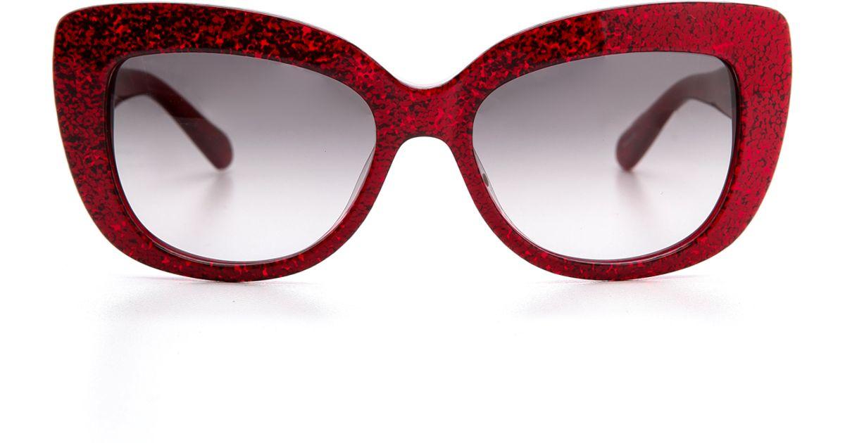 Lyst - Kate Spade New York Ursula Sunglasses - Red Glitter/Grey ...