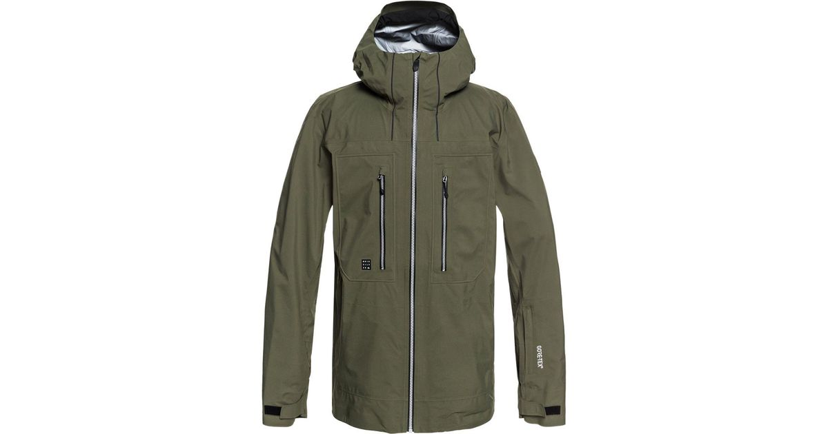 Jacket Men Lyst 3l Tex Hooded Quiksilver For Green Mamatus Gore kuOPXZi