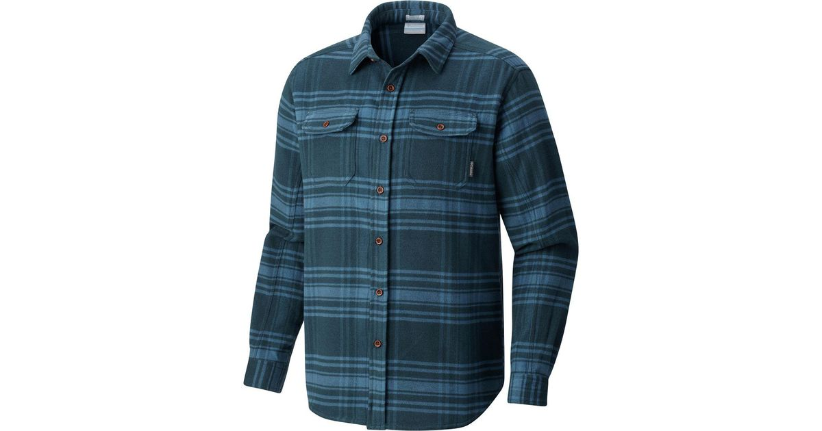 5df23433ec0 Columbia Deschutes River Heavyweight Flannel in Blue for Men - Lyst