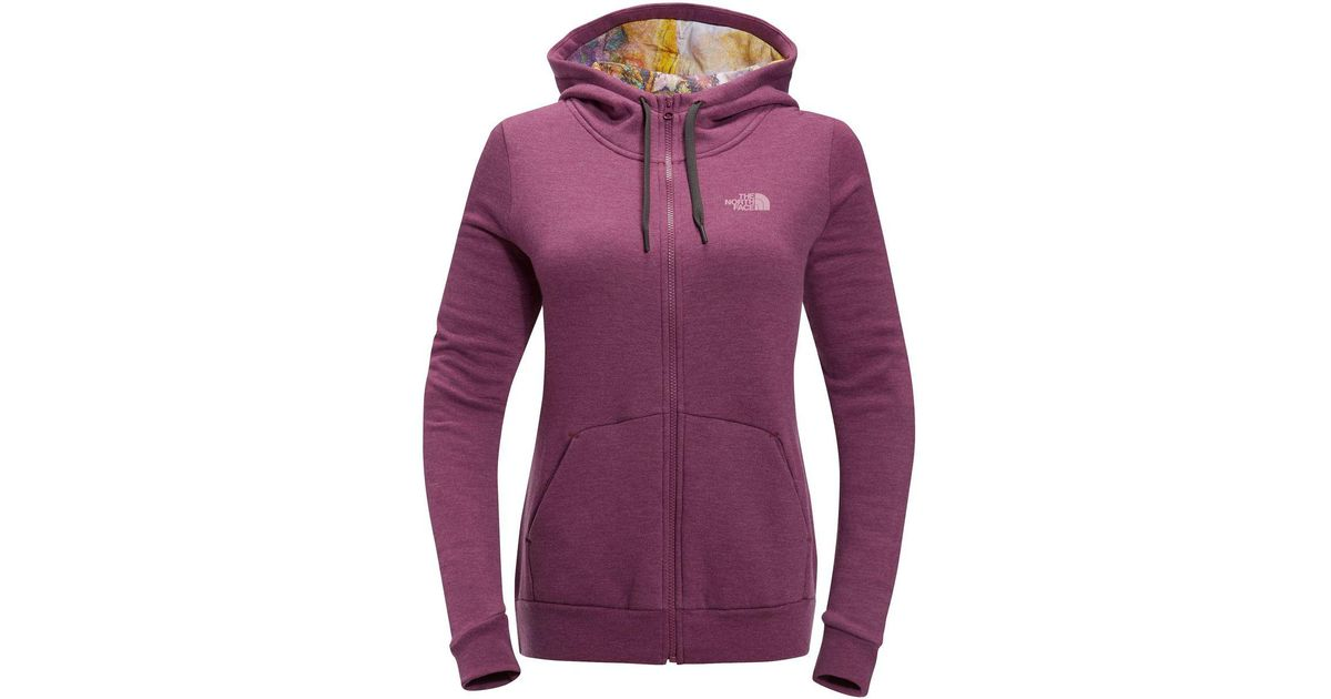 fa0bc035d The North Face - Purple Renan Full-zip Hoodie - Lyst