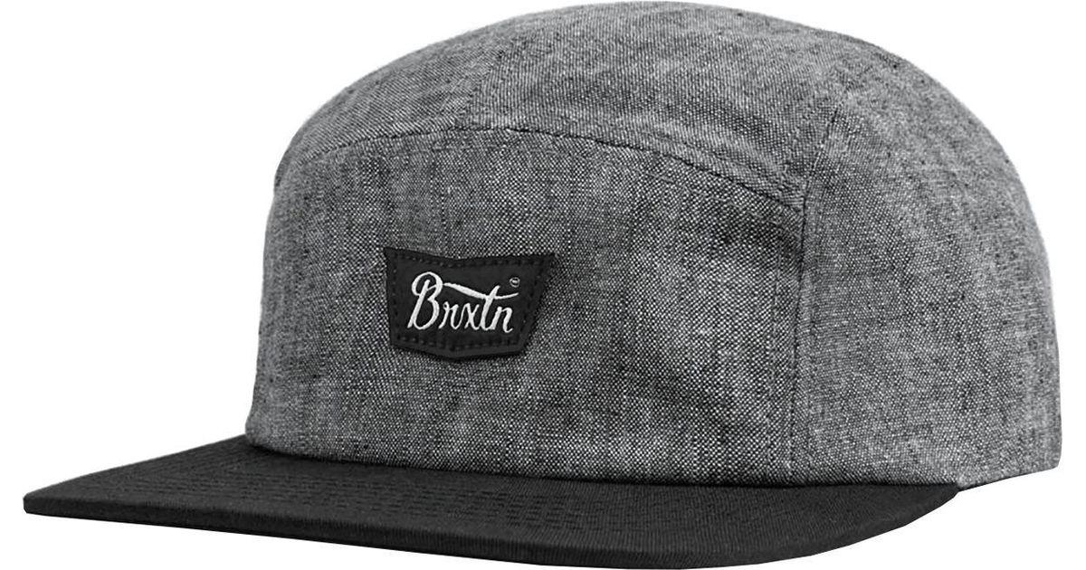 734c256f Lyst - Brixton Stith Five-panel Cap in Black for Men