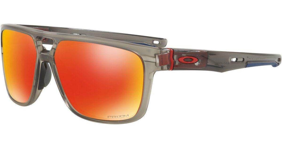 75064fcabed Lyst - Oakley Crossrange Patch Prizm Sunglasses for Men