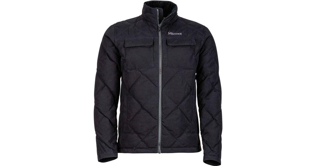 Lyst - Marmot Burdell Down Jacket in Black for Men b39fe54603
