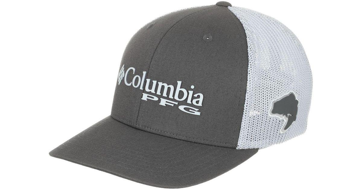 09d169d9e97 Lyst Columbia Pfg Mesh Trucker Hat In Gray For Men. Mesh Snap Back ...