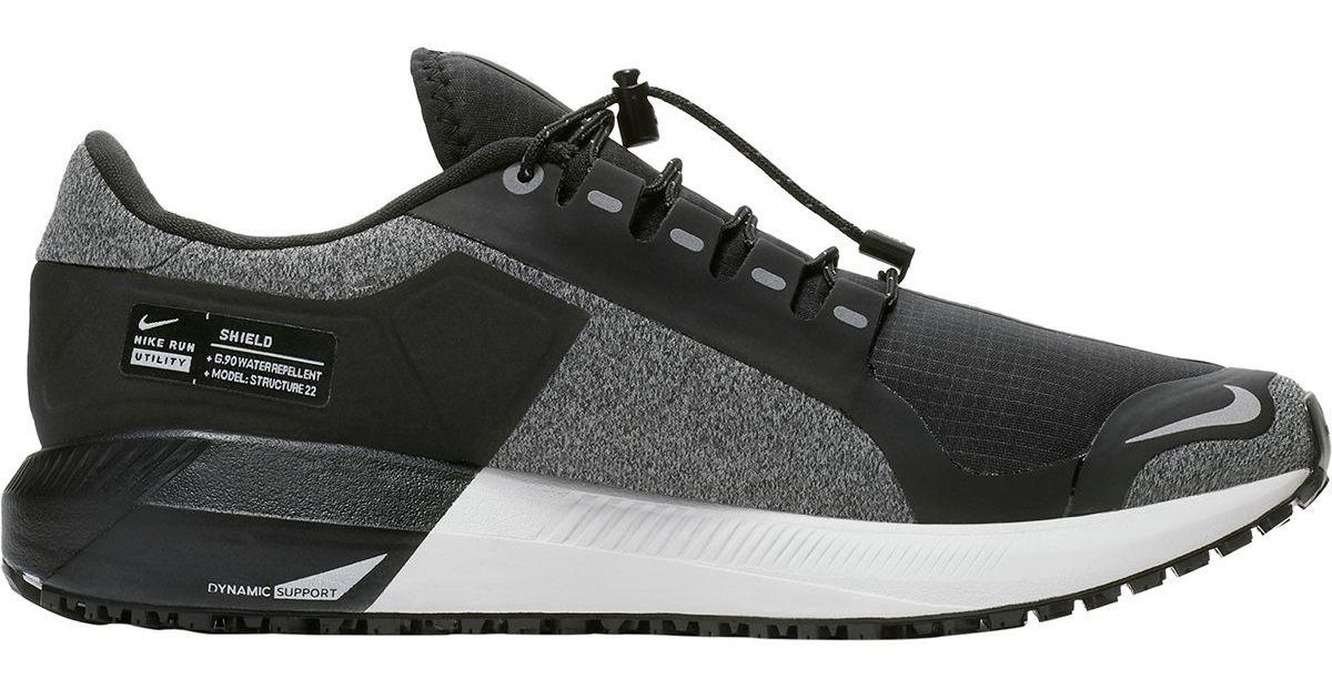 Lyst - Nike Air Zoom Structure 22 Shield Running Shoe in Gray a6efff849