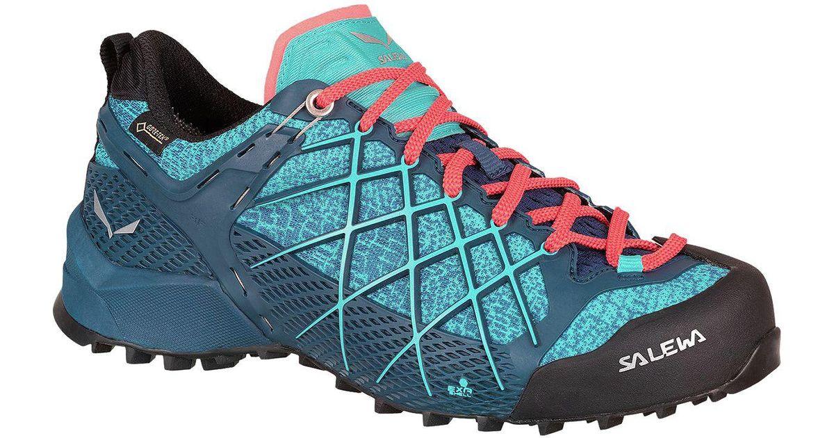 Salewa WILDFIRE GTX - Hiking shoes - poseidon/capri Hfc0nYy1Q5