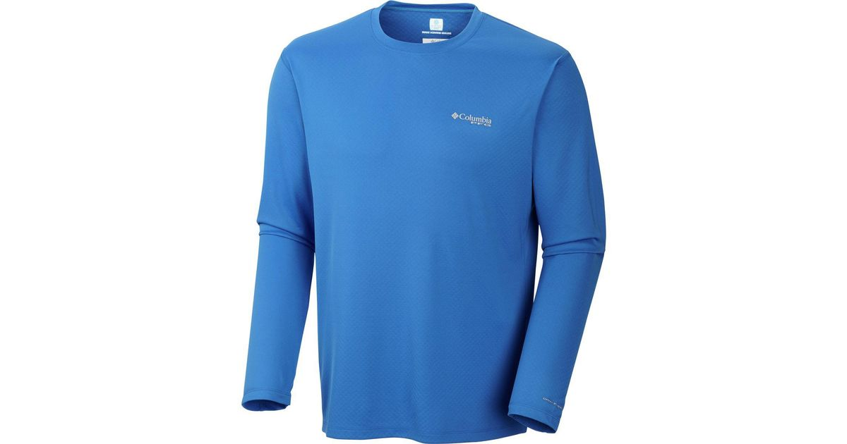 252d01a8bf6 Lyst - Columbia Pfg Zero Rules Long-sleeve Shirt in Blue for Men