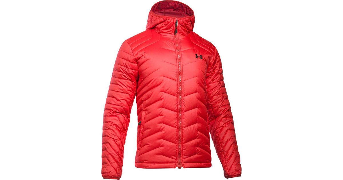 big sale b73b7 b4c6c Under Armour Coldgear Reactor Hooded Jacket in Red for Men - Lyst